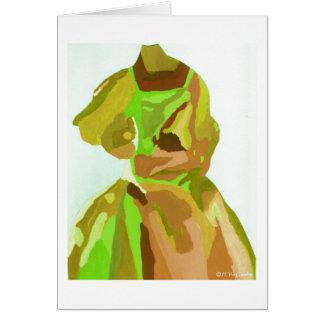 Fashionista de diva au printemps carte de vœux