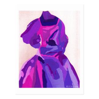 Fashionista de diva dans le bleu carte postale