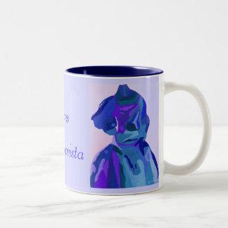 Fashionista de diva dans le bleu I Tasses À Café