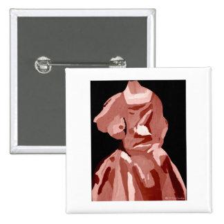 Fashionista de diva dans le neutre badge avec épingle