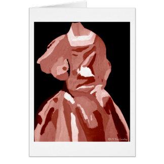 Fashionista de diva dans le neutre carte de vœux