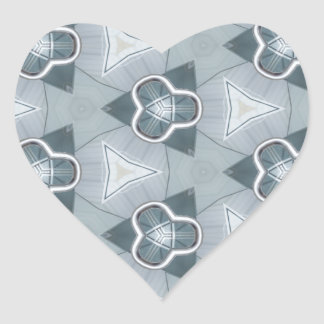Fashionista en acier 1 sticker cœur