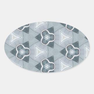 Fashionista en acier 1 sticker ovale