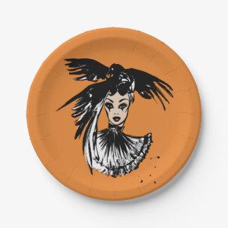 fashonillustration de Halloween avec des corbeaux Assiettes En Papier