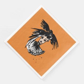 fashonillustration de Halloween avec des corbeaux Serviettes En Papier