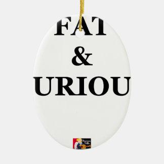 FAT & FURIOUS - Jeux de Mots - Francois Ville Ornement Ovale En Céramique