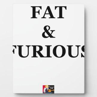 FAT & FURIOUS - Jeux de Mots - Francois Ville Plaque Photo