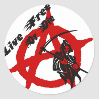 Faucheuse d'anarchie sticker rond