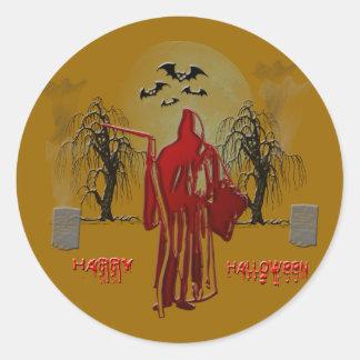 Faucheuse de Halloween Sticker Rond