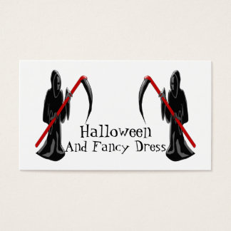 Faucheuse Halloween costumé Cartes De Visite