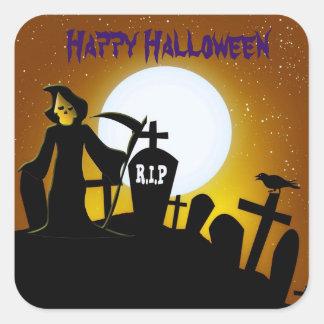 Faucheuse Halloween effrayant Sticker Carré