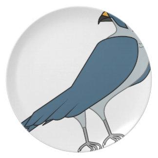 faucon #3 assiettes en mélamine