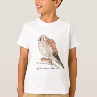 Faucon de moineau de crécerelle, oiseau t-shirt