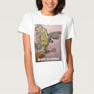 Faucon de poissons montant d'esprit t-shirts