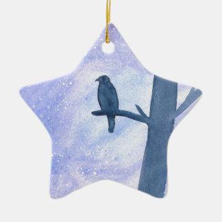 Faucon de sommeil ornement étoile en céramique