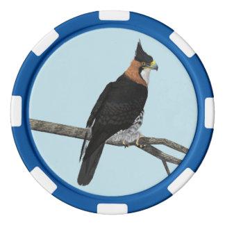 Faucon-Eagle fleuri Rouleau De Jetons De Poker