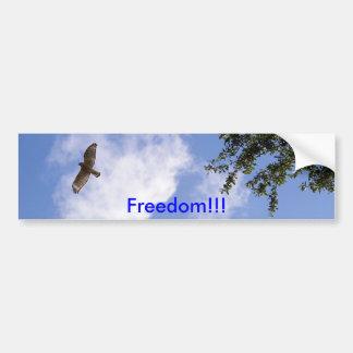 Faucon épaulé rouge, liberté ! ! ! , autocollant pour voiture