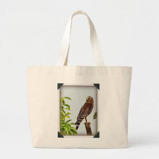 Faucon épaulé rouge sacs fourre-tout