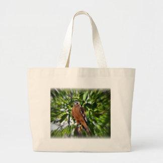 Faucon épaulé rouge sac en toile jumbo
