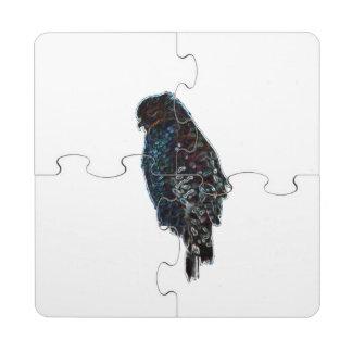 Faucon Rouge-Épaulé artistique Dessous De Verre Puzzle