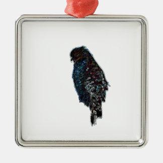 Faucon Rouge-Épaulé artistique Ornement Carré Argenté