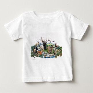 Faune nord-américaine t-shirt pour bébé