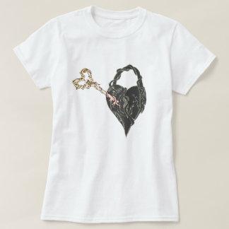 Fausse clé à mon coeur verrouillé t-shirt