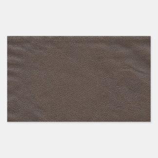 Fausse conception en cuir sticker rectangulaire