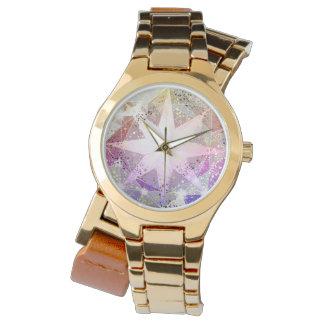 Fausse pierre rose de boussole de lavande montres