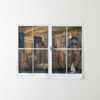 Fausse tenture de New York City de fenêtre