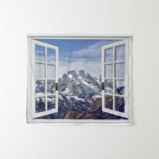 Fausse tenture de scène de montagne de fenêtre