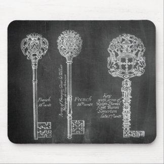 fausses clés victoriennes de steampunk de tableau tapis de souris