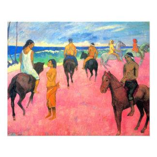 Fauvist peignant des cavaliers d'art de cheval de  prospectus customisé