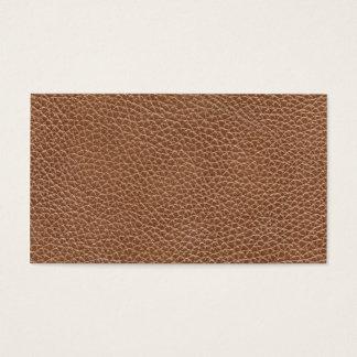 Faux Brown naturel en cuir Cartes De Visite