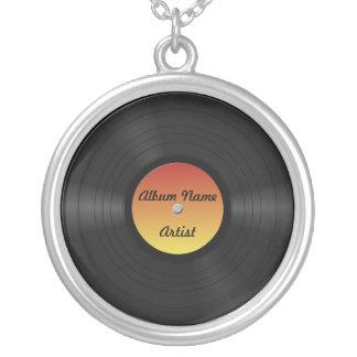 Faux disque vinyle fait sur commande pendentif rond