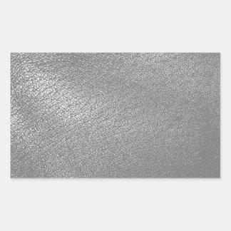 (Faux) simili cuir gris Sticker Rectangulaire
