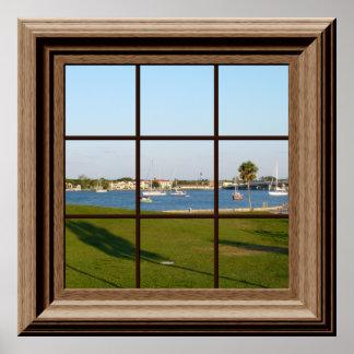 Faux voiliers St Augustine la Floride d'affiche de