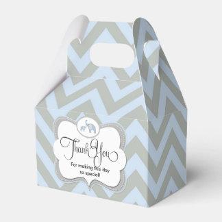 Faveur bleue de Merci de cadeau de bébé de Chevron Boites De Faveur