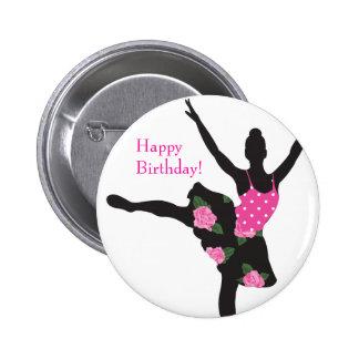 Faveur de bouton de joyeux anniversaire de rose de badges
