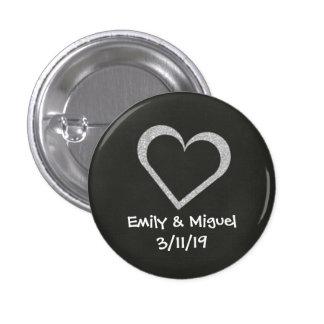 Faveur d'insigne de bouton de mariage de coeur de badge
