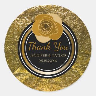 Faveur fascinante de Merci de mariage de feuille Sticker Rond