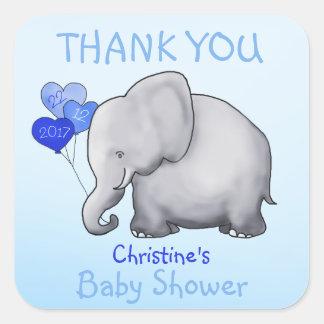 Faveur mignonne de Merci de baby shower de garçon Sticker Carré