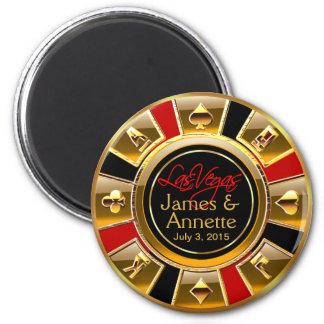 Faveur rouge de puce de casino de noir d'or de Las Aimant