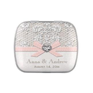 Faveur vintage rose de mariage de perle de boite à bonbons
