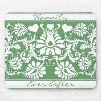 Faveurs florales vintages blanches de mariage tapis de souris