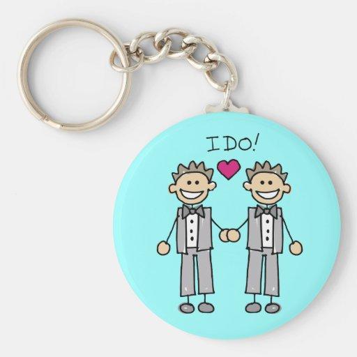 Faveurs gaies de mariage porte-clés