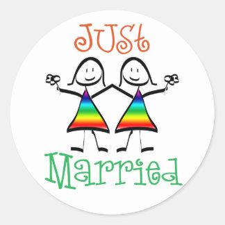 Faveurs lesbiennes de mariage adhésifs