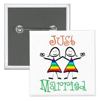 Faveurs lesbiennes de mariage badges