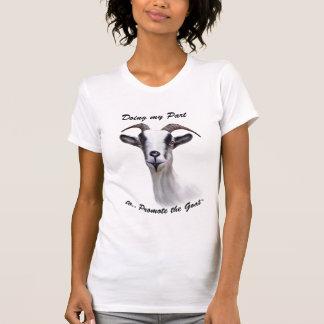 Favorisez la chèvre - portrait alpin de peinture t-shirt