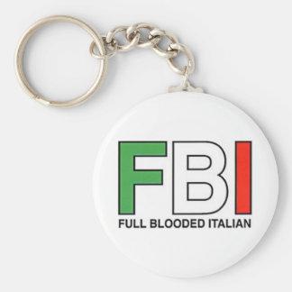 FBI = complètement Italien de Blooded Porte-clé Rond